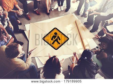Fasten Seat Belt Safety Warning Sign