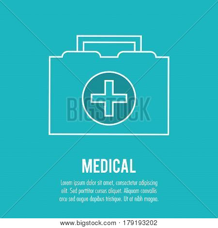 kit first aid urgency medical health care vector illustration eps 10