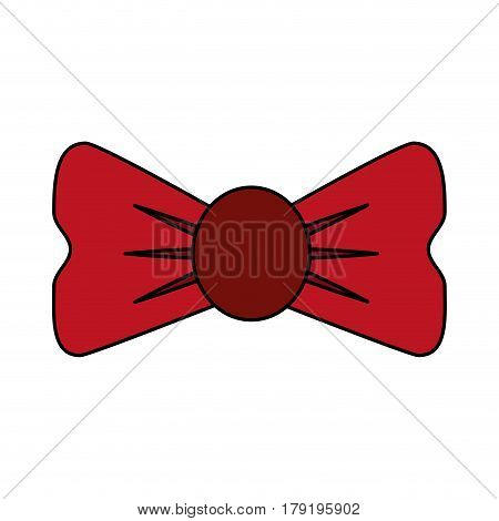 bowtie accessory icon image vector illustration design