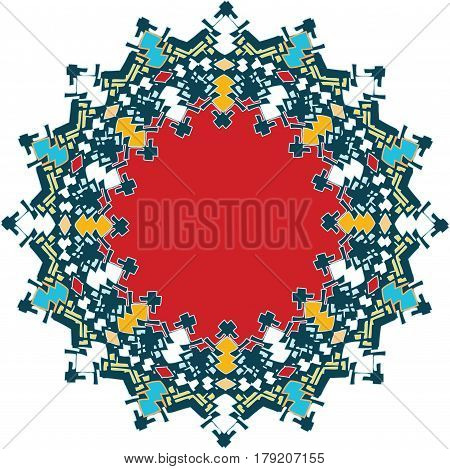 Ornament with western influenced flat colorization and western vibe feel