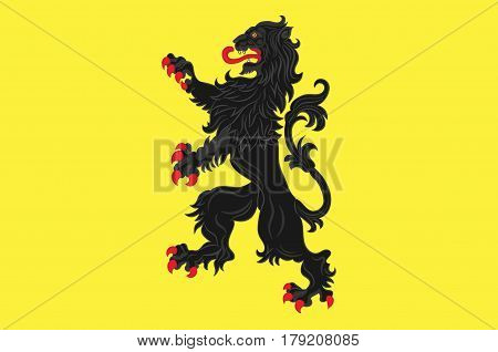 Flag of Nord is a department in Hauts-de-France is a Region in the far north of France. Vector illustration