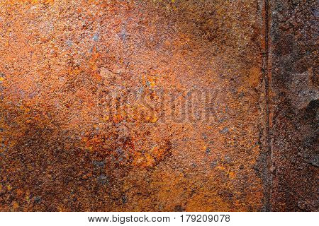 Rusty metal texture, rusty metal background for design with copy space for text or image. Rusty metal is caused by moisture in the air.