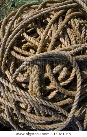 Old rolled up rope