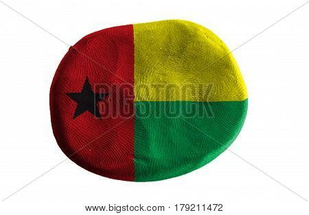 Flag of the Guinea Bissau, guinea Bissau flag on clay