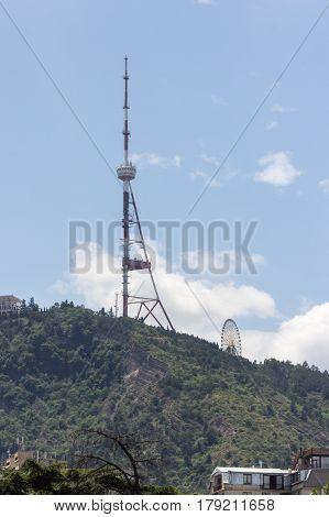 Georgian Tv Tower In Tbilisi