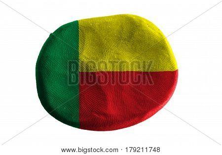 Flag of the Benin , Benin flag on clay