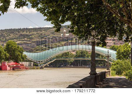 Bridge Of Peace In Tbilisi, Georgia.