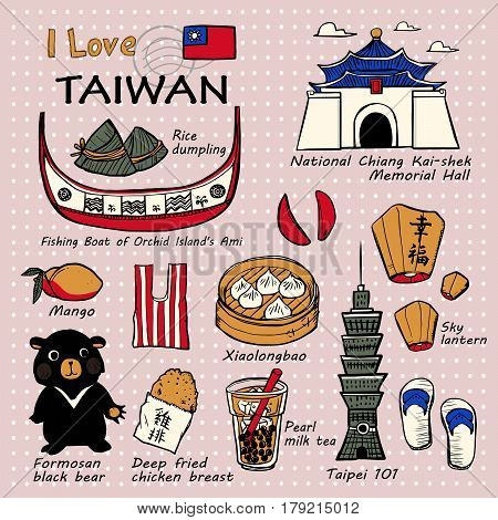 Taiwan Famous Things And Landscapes