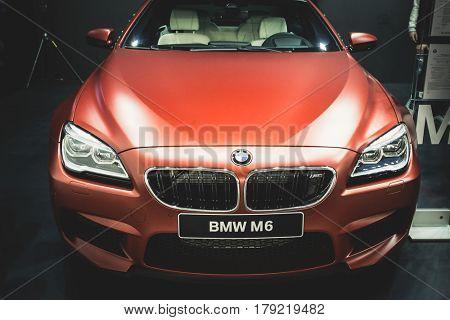 BELGRADE, SERBIA - MARCH 28, 2017 Belgrade Car Show BMW M6 COUPE