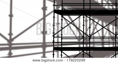 3d image of construction scaffolding against 3d image of construction scaffolding