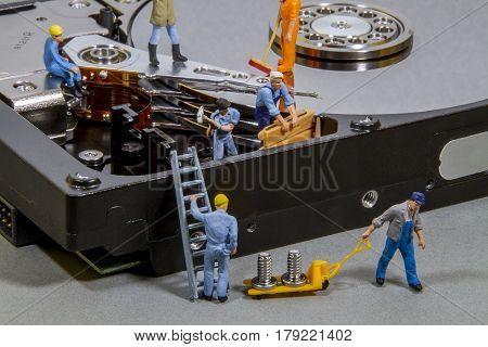 Maintenance and repair of HDD. Electronics repair.