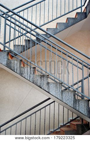 Modern Outdoor Empty Staircase (Ladder) Leading Up