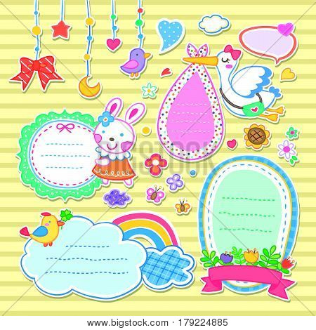 Adorable Colorful Animals Memo Set