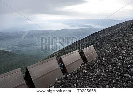 nyiragongo volcano, nord Kivu, DRC