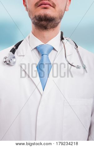 Portrait Of Unknown Male Doctor In Close-up View
