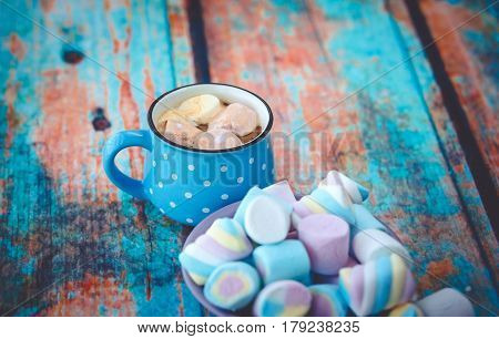 Marshmallow And Cup Of Coffee