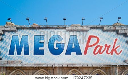 L'ARENAL, SPAIN - MARCH, 2017: Famous Megapark disco in L'Arenal on Mallorca island