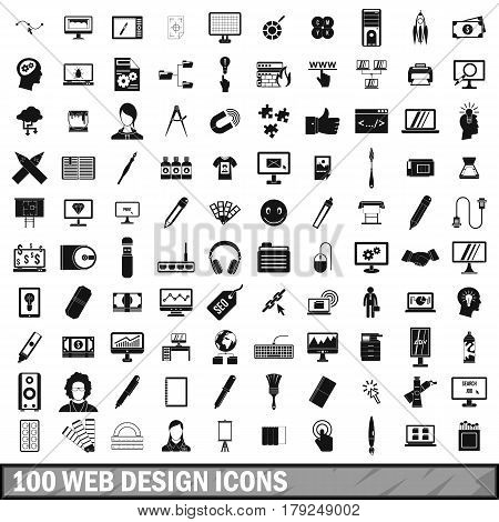 100 webdesign icons set in simple style for any design vector illustration