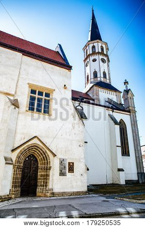St.james cathedral in historic town Levoca Slovakia