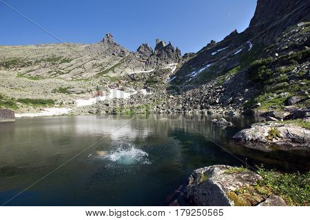 Tale Lake In The Mountains Of The Western Sayan