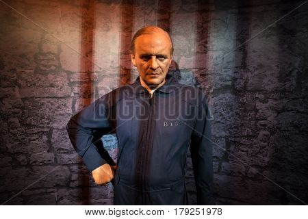 Bangkok - Jan 29: A Waxwork Of Anthony Hopkins On Display At Madame Tussauds On January 29, 2016 In