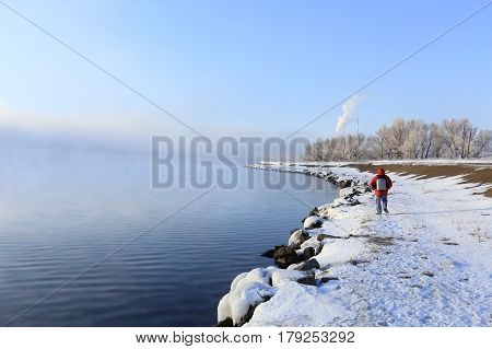 Dense Fog Over The River