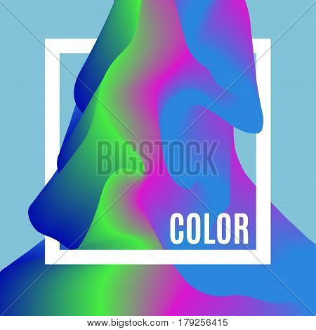 Abstract Design Creativity Background of color Waves. Frame with space for text. Smooth colour wave. Wavy color backdrop. Coloured texture.