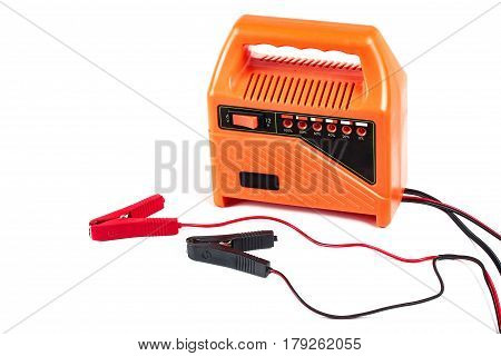 Mobile Charger With 2 Jumpers As Red And Black.