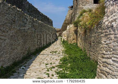Interior defensive walls at Deva fortress build in 1250
