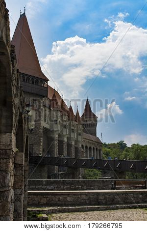 Corvins Castle, XV century , located in Romania, on the Center of Hunedoara City