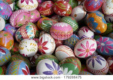 Decorative Multicolored Easter Painded Eggs