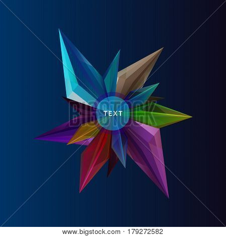 Abstract crystal vector background. Polygonal style illustration.