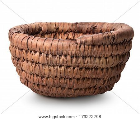 Basket of withe isolated on a white background