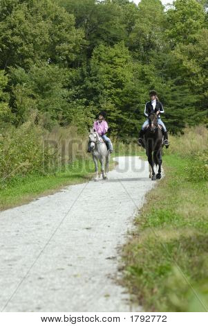 Mother Daughter Horse Ride