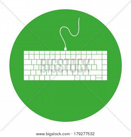 Keyboard icon stock vector illustration flat design.