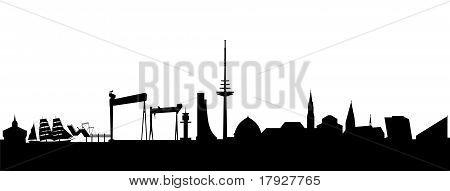 Kiel Silhouette black abstract