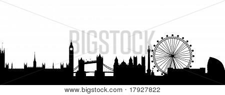 London Silhouette black abstract