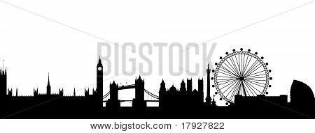 Resumen de Londres silueta negra