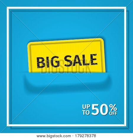 Sale banner. Vector background. Discount poster. Template design.