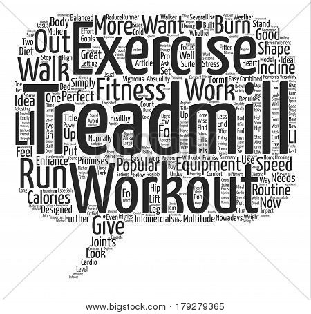 Walk Your Way To A Fitter Body Do The Treadmill Workout Now Word Cloud Concept Text Background poster