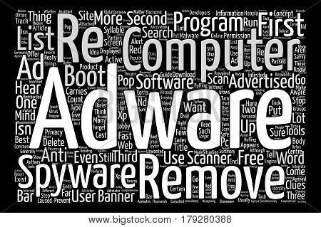 Want to delete adware fast Word Cloud Concept Text Background