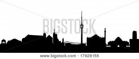 Stuttgart Silhouette black abstract
