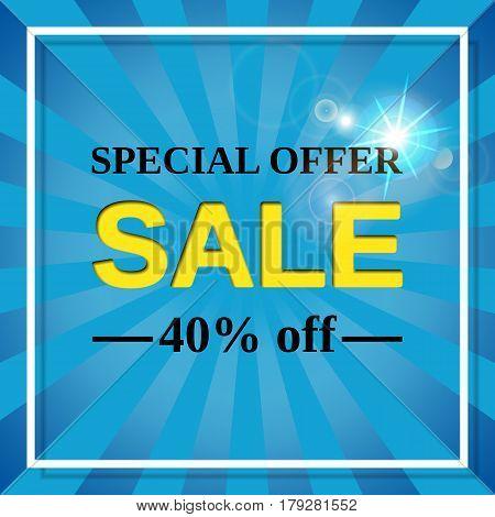Sale banner. Vector web sticker. Special offer discount label. Template design background.