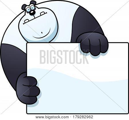 Cartoon Panda Hiding