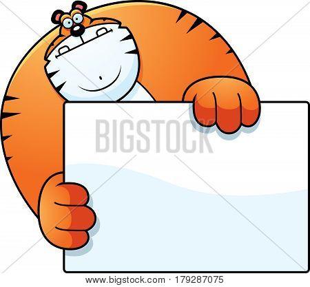 Cartoon Tiger Hiding