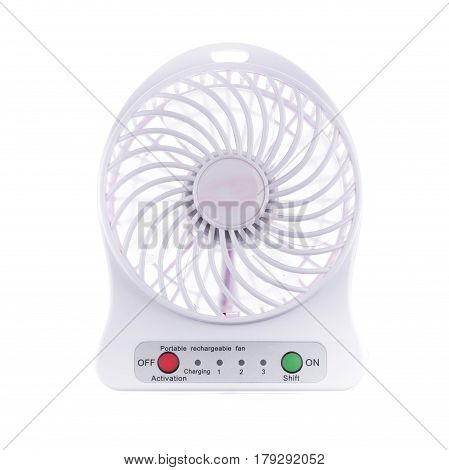 Carry on Portable electric windy fan isolate on white background