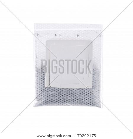 Drip bag coffee isolated on white background.