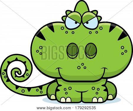 Cartoon Sly Chameleon