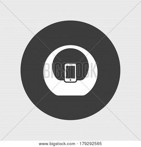 Audio sistem icon simple speaker sign vector doc station illustration
