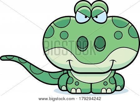 Cartoon Sly Gecko